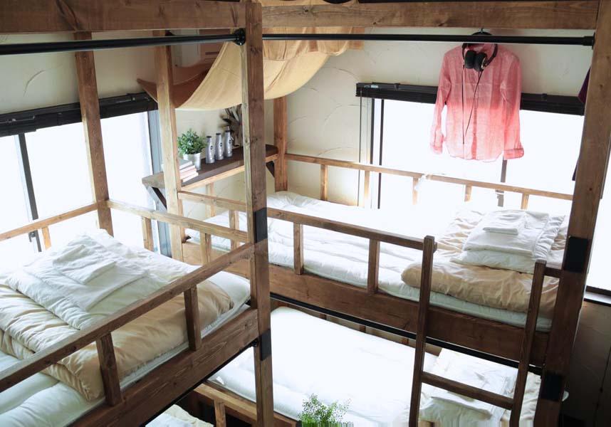 無料Wi-Fi付きのドミトリースタイルの客室はハードウッドフロアで、二段ベッド、エアコンが備わっています。バスルームとトイレは共用です。