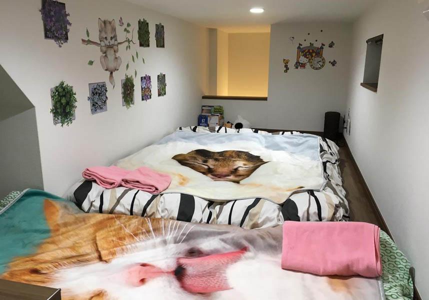 庭のあるアパートメントです。エアコン、独立したベッドルーム1室、バスルーム1室、設備の整ったキッチン、洗濯機、ワードローブが備わります。